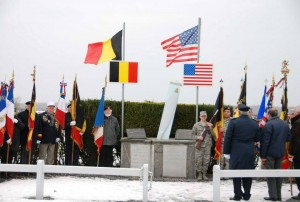 Ceremonies at B-17 Susan Ruth Memorial at Macquenoise, Belgium