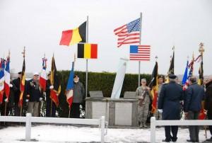 Ceremonies at B-17 Susan Ruth Memorial at Macquenoise, Belgium